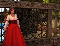 Maria - Beautiful Medieval Lady of the Manor - Image 6 Royalty Free Stock Image