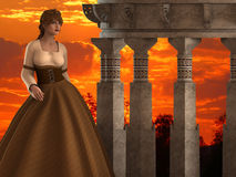 Maria - Beautiful Medieval Woman on a Mirador Balcony - Image 9 Royalty Free Stock Photography