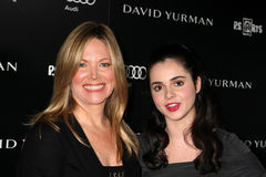 Maria Bell, Vanessa Marano. LOS ANGELES - OCT 18:  Maria Bell, Vanessa Marano arriving at the PS Arts 20th Anniversary Event at the Sunset Tower Hotel on October Stock Photography