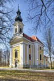 Maria Bründl, a sanctuary near Poysdorf, Lower Austria. Surrounded by chestnut trees royalty free stock photos