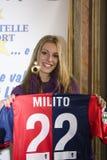 Maria Chiara Oberti and Diego Milito jersey Stock Image