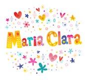 Maria Clara-de meisjes noemen stock illustratie