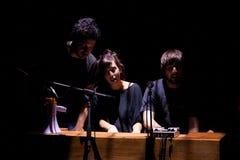 Maria Coma-de band voert op Centrum het theater van Artesa uit Tradicionarius Royalty-vrije Stock Afbeeldingen