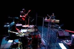 Maria Coma-de band voert op Centrum het theater van Artesa uit Tradicionarius Stock Afbeelding