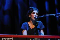 Maria Coma performs at Centre Artesa Tracicionarius stage Royalty Free Stock Photo