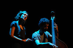 Maria Coma performs at Centre Artesa Tracicionarius stage Stock Images