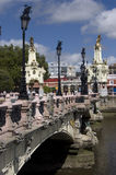 Maria Cristina bridge. In San Sebastian, Guipuzcoa. Spain Royalty Free Stock Image