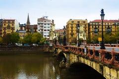 Maria Cristina bridge over Urumea. Donostia Royalty Free Stock Image