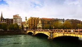 Maria Cristina bridge over Urumea Stock Photography