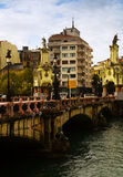 Maria Cristina bridge over Urumea. Sant Sebastian Royalty Free Stock Photos