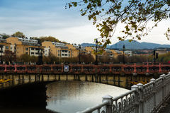 Maria Cristina bridge over Urumea Royalty Free Stock Image