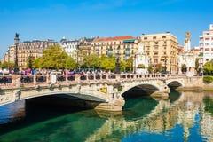 Maria Cristina Bridge, San Sebastian stock afbeeldingen