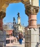 Maria Cristina bro av San Sebastian Baskiskt land, Guipuzcoa spain Arkivbilder