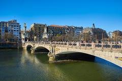 Maria Cristina most San Sebastian Baskijski kraj, Guipuzcoa Hiszpania Zdjęcia Stock