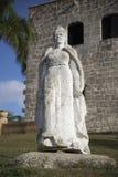 Maria de Toledo Plaza de Espana från Alcazar de Kolon (Palacio de Diego Colon) domingo santo Dominikanska republiken Arkivbild
