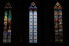 Maria del Mar Cathedral, Barcellona fotografie stock libere da diritti