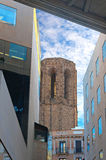 Maria del Pi Church Tower in Barcelona Stock Photography