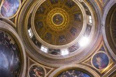 圣塔Maria del Popolo,罗马,意大利大教堂 库存图片