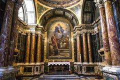 圣塔Maria del Popolo,罗马,意大利大教堂 免版税库存照片