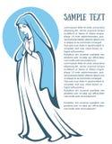 maria dziewica ilustracji