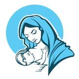 maria dziewica royalty ilustracja