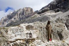Maria en dolomía Foto de archivo libre de regalías