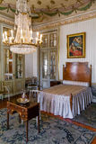 Maria Francisca Benedita Princess bedroom in the Queluz Palace, Portugal. Royalty Free Stock Image
