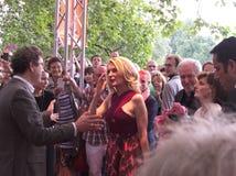 Maria Furtwängler at the reception of the Festival des deutschen Films. Ludwigshafen, Germany - June 06 2016: Maria Furtwängler at the reception of the Stock Images