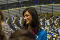 Maria Gabriel, deputado Chair do grupo do PPE no Parlamento Europeu Uma economia digital e uma sociedade digital Imagem de Stock Royalty Free