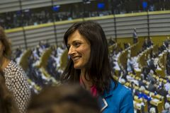 Maria Gabriel, Deputy Chair of the EPP Group in the European Parliament. A digital economy and a digital society. royalty free stock image
