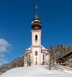 Maria Gern Chapel nella terra di Berchtesgadener, alpi bavaresi, tedesche Immagini Stock