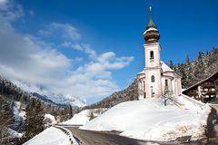Maria Gern Church in alpi bavaresi, Berchtesgaden, Germania Fotografie Stock