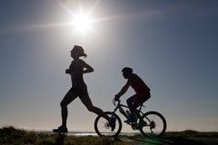 Maria Gleeson, maratón 10K Imagenes de archivo