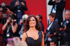 Maria Grazia Cucinotta smiling. On the red carpet in the official awards day Royalty Free Stock Image