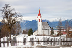The Maria Heimsuchung church in Austrian Alps Royalty Free Stock Images