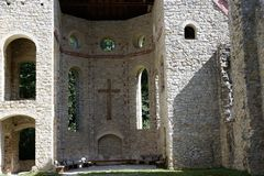 Maria help chapel in south germany. Maria chapel ruin in Muehlheim at Danube near tuttlingen in south germany Stock Photography