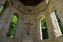 Maria help chapel in south germany. Maria chapel ruin in Muehlheim at Danube near tuttlingen in south germany Stock Photos