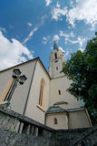 Maria-Himmelfahrt (Assumption day) church in Garmisch-Partenkirc Royalty Free Stock Photos