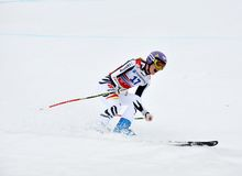 Maria Hoefl-Riesch triumph on Ski World Cup Royalty Free Stock Images