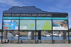 Maria Island Ferry in Tasmania Australia stock images