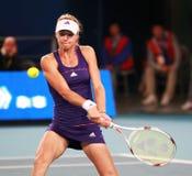 Maria Kirilenko, jugador de tenis ruso en la acción Imagen de archivo