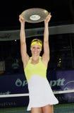 Maria Kirilenko van Rusland met de trofee Royalty-vrije Stock Foto