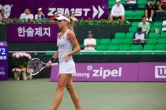 Maria Kirilenko Walking Away Profile stock foto's