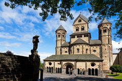 Maria Laach abbey trees Stock Images