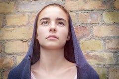 Maria le gusta el retrato de una muchacha del adolescente Imagenes de archivo