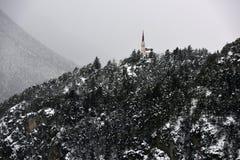 Maria Locherboden Church, Motz, Tirol, Österreich stockbilder
