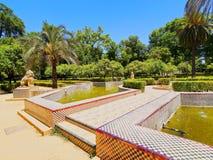 Maria Luisa Park i Seville, Spanien fotografering för bildbyråer