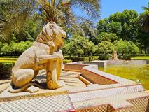 Maria Luisa Park in Seville, Spain Royalty Free Stock Photography