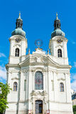 Maria Magdalena church in Karlovy Vary. Czech Republic royalty free stock photo