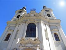 Maria Magdalena church in Karlovy Vary, Czech Republic royalty free stock image